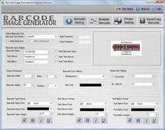 Barcode Image Generator - Product License at winpcworld.com