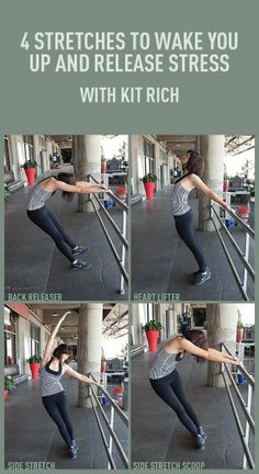Pinner sez: 4 Stretches To Wake You Up and Release Stress. I started physical therapy today, I am very proud of myself. 12 weeks, I can do this! Fitness Diet, Fitness Motivation, Health Fitness, Sport Food, Health Tips, Health And Wellness, Lose Weight, Weight Loss, Release Stress