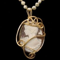 Large Shell Cameo Wrapped in 14/20 Gold Filled Wire. £72.00