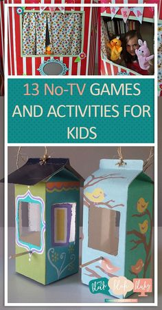 13 No-TV Games and Activities for Kids| No Television Activites for Kids, Activities for Kids, Summer Activities for Kids, Games for Kids, Educational Games for Kids, Popular Pin