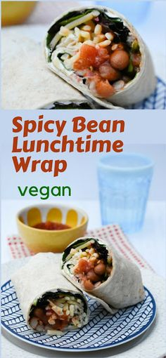 Spicy Bean Lunch Wrap (copycat vegan recipe) with a free printable recipe. This is a great alternative to sandwiches for your lunchbox. Full of spicy beans, cheese and salad. Perk up your lunches this week. Quick lunches at home, lunch on the go, picnics or packed lunches. #wrap #lunchwrap #sandwich #sandwiches #veganwrap #veganlunch #veganlunchbox #lunchbox #beans #salsa #copycatrecipe #fakeaway #vegan #veganfood #vegetarian