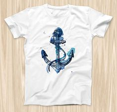 The Nautical Watercolor Anchor  ink-Fuzed Graphic by TheSkinDudes