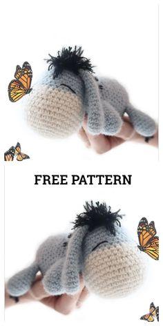 Crochet Diy, Crochet Kawaii, Crochet Simple, Crochet Gifts, Crochet Dolls, Disney Crochet Patterns, Crochet Amigurumi Free Patterns, Crochet Animal Patterns, Crochet Designs