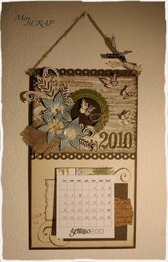 MerySCRAP: gennaio 2010 Fall Craft Fairs, Fall Crafts, Calendar Activities, Calendar Ideas, Post It Holder, Coaster Crafts, Advent Calenders, Butterfly Mobile, Calendar Design