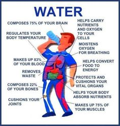 Water!  Does a body good!