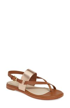 Made from soft, smooth leather, this summery sandal is fitted with a comfortable padded footbed and flexible ZeroGrand sole. Style Name:Cole Haan Anica Sandal (Women). Style Number: Available in stores. Toe Ring Sandals, Toe Rings, Flip Flop Sandals, Flip Flops, Gold Leather, Smooth Leather, Cole Haan, Open Toe, Nordstrom