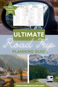 Read this guide before planning your next road trip. Find out planning tips, what to bring, what to pack, and road trip inspiration. Free 3 page Packing List inside! Start preparing for your next United States Road Trip!  #budgettravel #affordable #ustravel #tips #howto