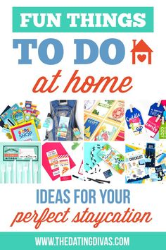 Fun Things to Do at Home- lots of fun ideas for couples and families #datingdivas