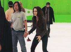 Kristen Stewart bts of Breaking Dawn 2