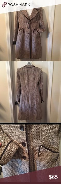 """❄️ HP❄️ KASPER TWEED COAT Vintage Boho Chic Jacket ❄️ WINTER CLEARANCE - LOWEST UNLESS BUNDLED ❄❄️❄️HOST PICK 12-2-16 Baby, It's Cold Outside Party❄️❄️❄️ Size MEDIUM (maybe 8/10?). Measures: 40"""" around pit-to-pit; 34"""" at waist; 18"""" across the shoulders; 40"""" length down the backside. Light shoulder pads. 100% acrylic tweed. Fully lined. Made in Vietnam. Beautiful trim and detailing. Sleeves can be worn straight, cuffed or somewhere in between. Very classy yet casual. Pre-owned; excellent…"""