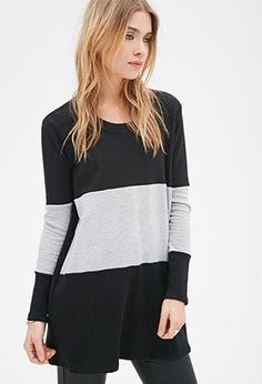 Colorblocked Sweatshirt Dress | Forever 21 - 2049258714