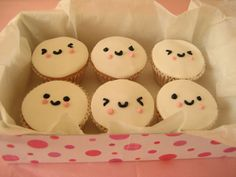Cute cupcake with frosting