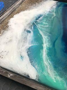 Resin Paintings, Beach Wall Art, Sea Waves, Resin Crafts, Mixed Media, Abstract Art, Florida, Decor Ideas, Hair