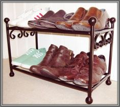 Handmade wrought Iron Shoe rack - Christmas Gift Ideas! - www.caldergates.co.uk