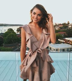Spotted: Bambi Northwood Blyth wears the Winsome Flounce Dress from Resort Ready-to-Wear 17