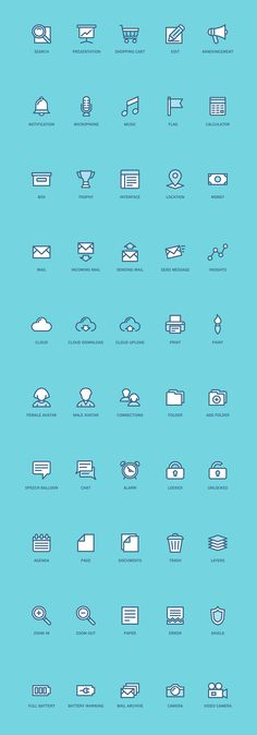 100 Free Web and App UI icons on Behance