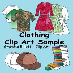 I hope you enjoy my Clothing Clip Art Sample.  You are welcome to use my clip art for educational purposes in your home or classroom or to make products to sell to teachers and parents.  If you use my products to make materials for paid or free products please give me credit or link to my site.
