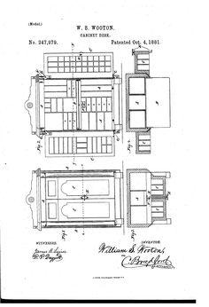 1880 flexible roll top desk covering, Abner Cutler