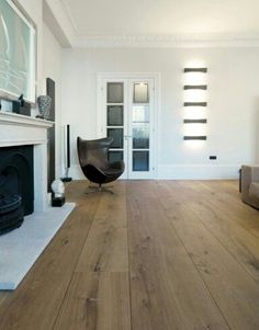 Love the hardwood floors, extra wide planks bring the space together
