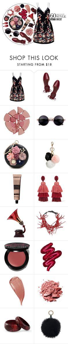 """""""60 seconds style"""" by arodkilark ❤ liked on Polyvore featuring The 2nd Skin Co., Tory Burch, Charlotte Tilbury, WithChic, GUESS, Aesop, Oscar de la Renta, Brunello Cucinelli, Bobbi Brown Cosmetics and Obsessive Compulsive Cosmetics"""