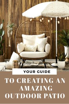 The best patio ideas on a budget for every style large or small.  Packed with tons of outdoor decorating ideas plus, furniture, fire pits and more! #patioideas