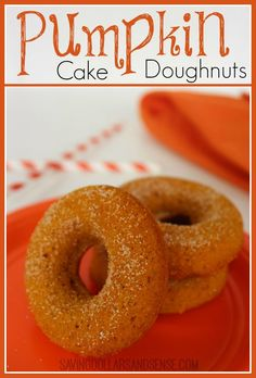 It is time for all things Pumpkin, and these Pumpkin Cake Doughnuts are so easy to make and perfect with a Pumpkin Spice Latte!!