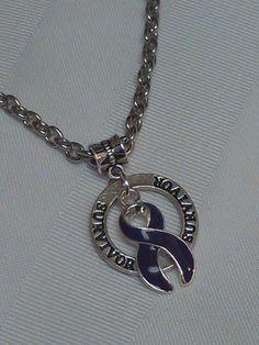 """Purple awareness """"Survivor"""" necklace!"""