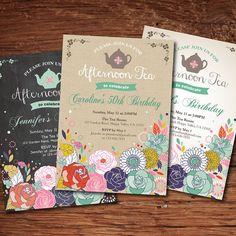 33 Ideas Birthday Invitations For Women Design Tea Parties For 2019 Mum Birthday Gift, Tea Party Birthday, Best Birthday Gifts, Birthday Woman, Birthday Diy, Birthday Cards, Birthday Recipes, Birthday Ideas, Tea Party Invitations