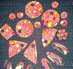 Retro-FIMOilu vei mukanaan. Polymer clay retro patterns.