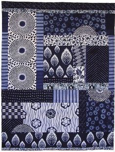 by Janice Gunner, special exhibit Shibori & Japanese Quilt Patterns, Japanese Quilts, Japanese Textiles, Quilting Projects, Quilting Designs, Quilting Ideas, Shibori, Asian Quilts, American Quilt