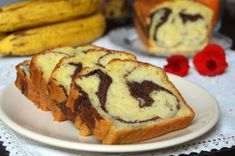 Chec cu banane, iaurt si cacao Marmer Cake, Loaf Cake, Cake Recipes, Caramel, Cheesecake, Muffin, Food And Drink, Cooking Recipes, Breakfast
