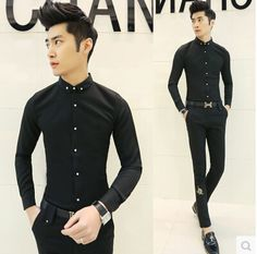 Hot Sale Club Office Casual Sexy Shirts Unique Slim Solid Shirt Free  Shipping C08 Camisas Sexis 806ccdc7c587d