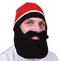"""Rufio"" Skully with detachable beards and mustaches in the color of your choice available at beardheard.com for $28. #beard #beardhead #beardhat"