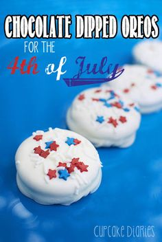 Chocolate Dipped Oreos for the 4th of July