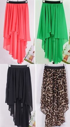 Cute+Maxi+Skirt+  Short+in+the+front+&+long+in+the+back  Available+in+4+colors+&+3+sizes!  Material:+Chiffon