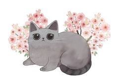 Cat Wallpaper, Cute Wallpaper Backgrounds, Kitten Drawing, Gato Anime, Cute Cat Illustration, Cat Background, Super Cat, Colouring Pics, Kawaii Cat