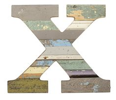 Recycled Wood Letter X  These Paul Michael Company Exclusive pieces are designed and made by hand in our Dermott, AR woodshop.
