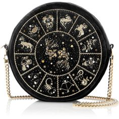 Preciously Paris     Pisces Clutch ($2,195) ❤ liked on Polyvore featuring bags, handbags, clutches, velvet clutches, over the shoulder handbags, round purse, long purse and chain strap purse