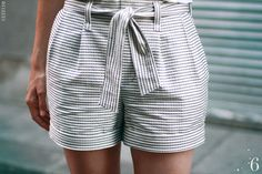 Made by 6 Salme paper bag waist shorts pattern