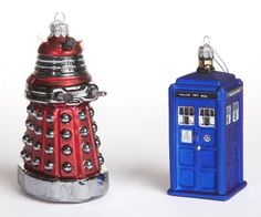 @Holly Carlton have you seen these?! Doctor Who Ornament Set #DoctorWho
