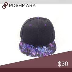 ❣️SALE New Purple & Black Satin Galaxy Snapback ❣️ ❣️SALE New Purple & Black Satin Galaxy Snapback ❣️ Vintage Accessories Hats