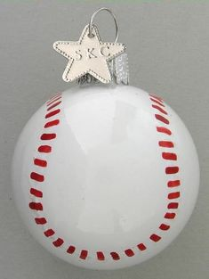 I think I'm going to have a baseball themed tree!!  hand painted christmas ornaments - Bing Images