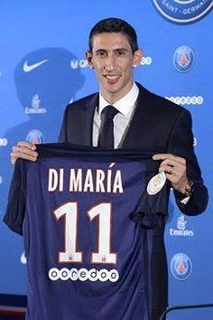 sportspree :: PSG finally unveils unsettled Angel Di maria after £44m move (Photos)