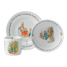 Peter Rabbit Christening Tableware