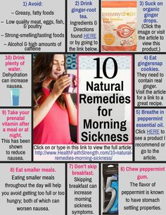Morning sickness is very common. Many women suffer through it because they don't know about these 10 natural remedies for morning sickness! * Click image for more details.