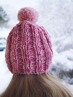 Rosa restgarnsmössa Knitted Hats, Winter Hats, Knitting, Fashion, Moda, Tricot, Fashion Styles, Breien, Stricken