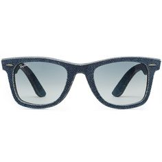 fac6f979354 Ray-Ban RB2140 Wayfarer Denim Sunglasses ( 105) ❤ liked on Polyvore  featuring accessories