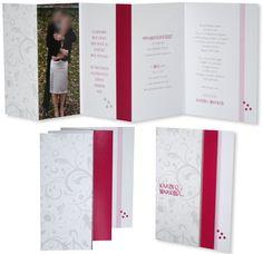Leporello Foto - Hochzeitseinladung Pink