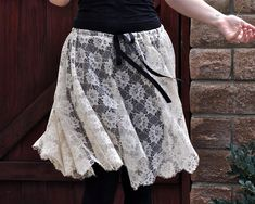 Maeg-it Yourself ...a tutorial  Romantic Lace Ballet Skirt with Raw Edges