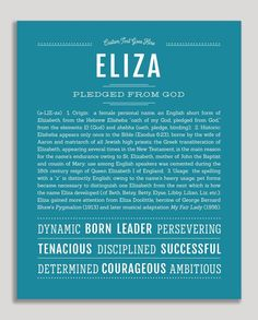 Sydney Classic name print teal blue Ella Name, English Surnames, English Idioms, Classic Names, Descriptive Words, Female Names, Thing 1, Name Art, Place Names